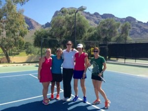 My tennis group and our Head Coach Debbie Graham